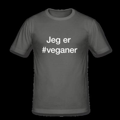 Veganer – hashtag som tryk på t-shirt - #veganer
