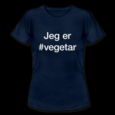 Vegetar – hashtag som tryk på t-shirt - #vegetar