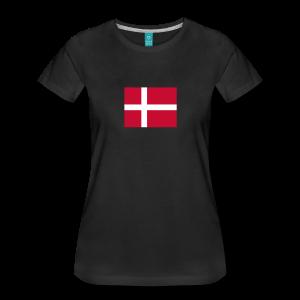 Dannebrog - som tryk på t-shirt - #dannebrog