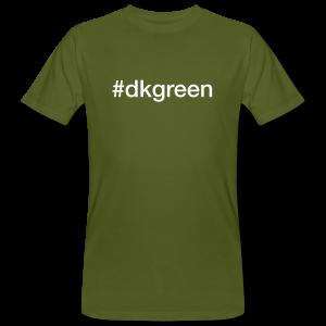 dkgreen - hashtag som tryk på t-shirt - #dkgreen