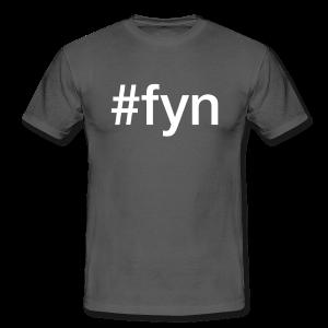 Fyn - hashtag som tryk på t-shirt - #fyn