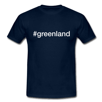 Greenland - hashtag som tryk på t-shirt - #greenland