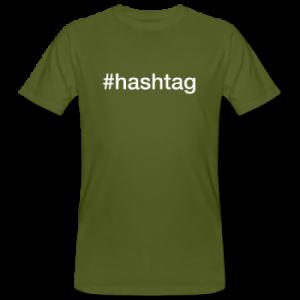 Hashtag-t-shirt med tryk der siger #hashtag