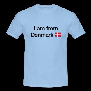 I am from denmark + dannebrog - t-shirt og andet med tryk