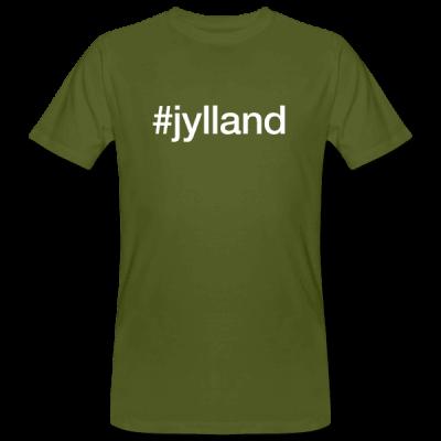 Jylland - hashtag som tryk på t-shirt - #jylland