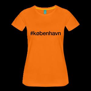 København - hashtag som tryk på t-shirt - #københavn