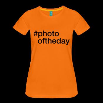 Photooftheday - hashtag som tryk på t-shirt m.m. - #photooftheday